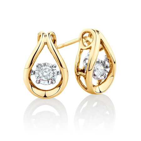 Everlight Stud Earrings with 1/6 Carat TW of Diamonds in 10kt Yellow Gold