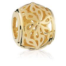 10kt Yellow Gold Filigree Flower Charm