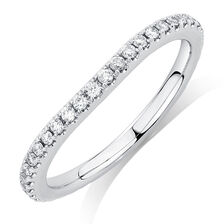 Sir Michael Hill Designer GrandArpeggio Wedding Band with 0.33 Carat TW of Diamonds in 14kt White Gold
