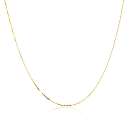 """45cm (18"""") Curb Chain in 14kt Yellow Gold"""