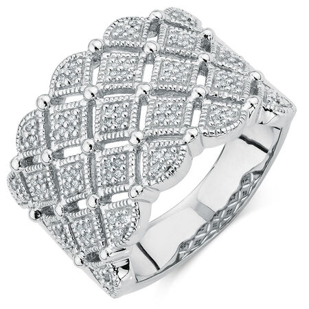 Ring with 1/6 Carat TW of Diamonds in Sterling Silver