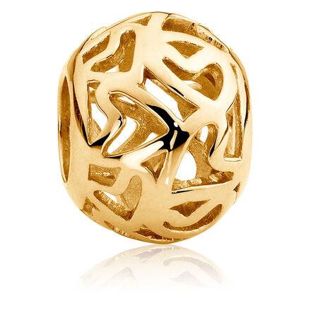 10kt Yellow Gold Filigree Charm