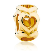10kt Yellow Gold Open Heart Charm