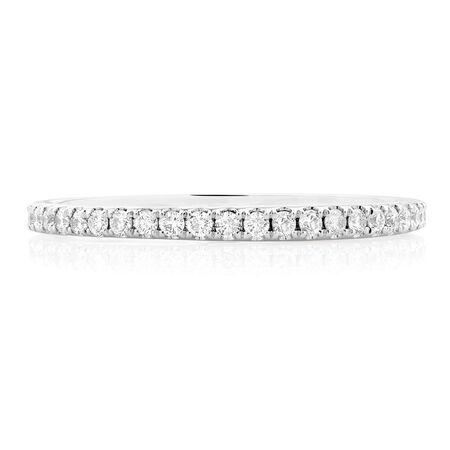 Sir Michael Hill Designer GrandArpeggio Wedding Band with 1/3 Carat TW of Diamonds in 14kt White Gold
