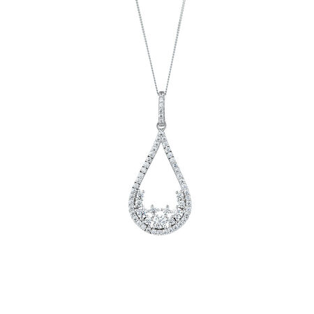 Teardrop Pendant with Luxe Cubic Zirconia in Sterling Silver