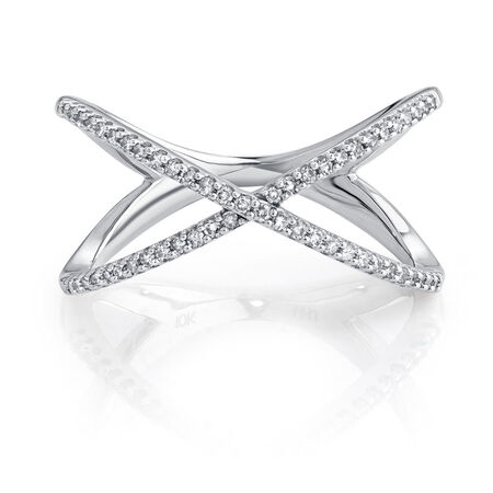 Geometric Ring with 1/5 Carat TW of Diamonds in Sterling Silver
