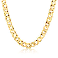 "55cm (22"") Men's Solid Curb Chain in 10kt Yellow Gold"