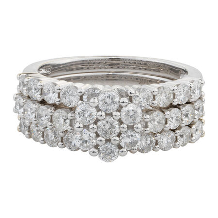 Online Exclusive - Bridal Set with 2 Carat TW of Diamonds in 14kt White Gold
