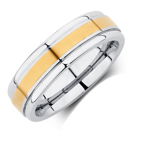Men's Ring in Cobalt & 10kt Yellow Gold
