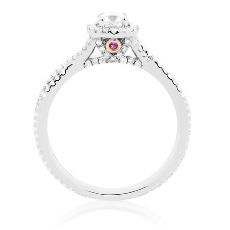 Sir Michael Hill Designer GrandAdagio Engagement Ring with 3/4 Carat TW of Diamonds in 14kt White Gold