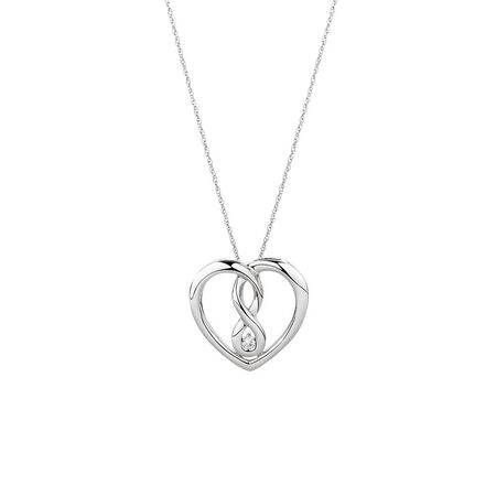 Medium Infinitas Pendant with a 1/20 Carat TW Diamond in Sterling Silver