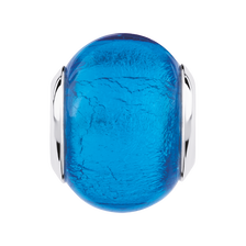 Bright Blue Glass Charm