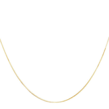 "50cm (20"") Box Chain in 10kt Yellow Gold"
