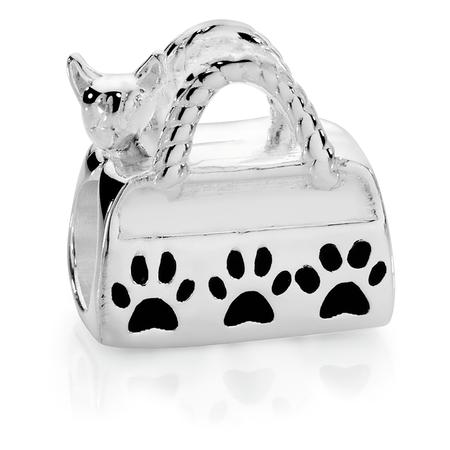 Sterling Silver Chihuahua Bag Charm