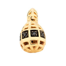 1/20 Carat TW Enhanced Black Diamond Marrakesh Drop Charm