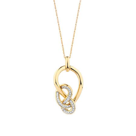 Medium Knots Pendant with 1/5 Carat TW of Diamonds in 10kt Yellow Gold