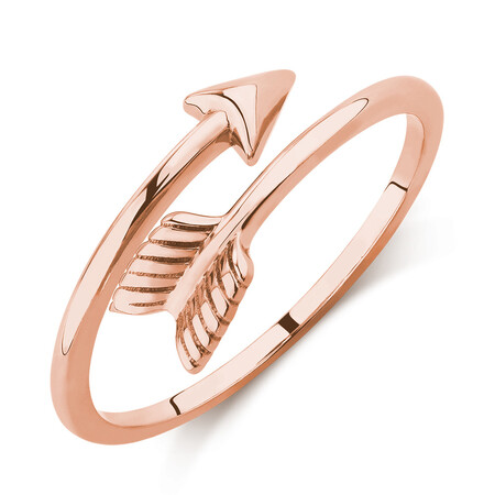 Arrow Wrap Ring in 10kt Rose Gold
