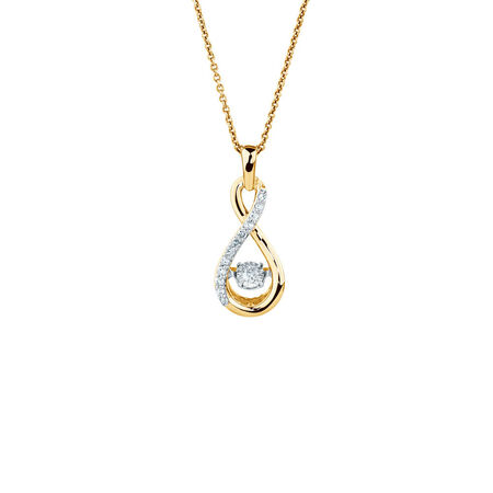 Everlight Pendant with 1/10 Carat TW of Diamonds in 10kt Yellow Gold