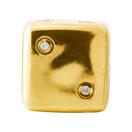 Diamond Set & 10kt Yellow Gold Dice Charm