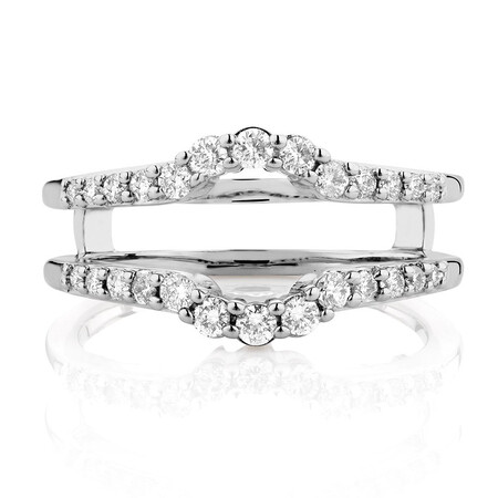 Enhancer Ring with 1/2 Carat TW of Diamonds in 14kt White Gold