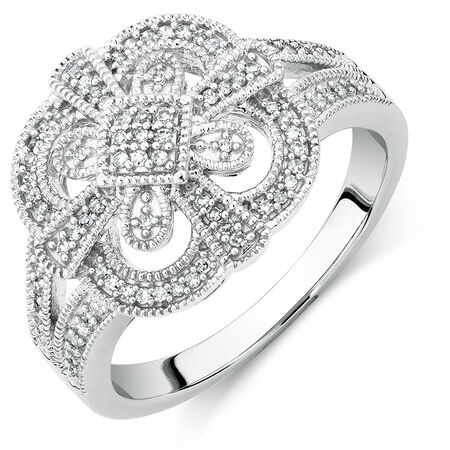 Ring with 1/5 Carat TW of Diamonds in Sterling Silver