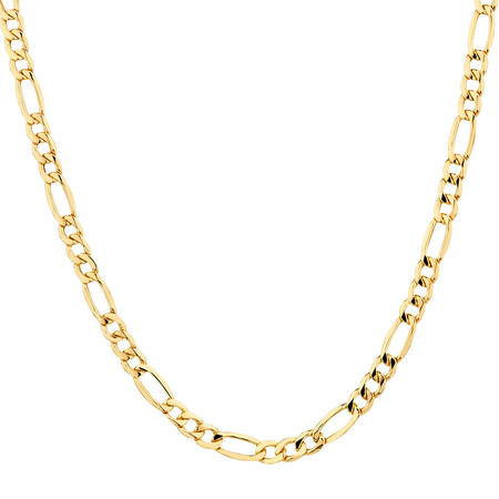 "45cm (18"") Hollow Figaro Chain in 10kt Yellow Gold"
