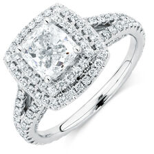 Sir Michael Hill Designer GrandArpeggio Engagement Ring with 2 1/2 Carat TW of Diamonds in 14kt White Gold