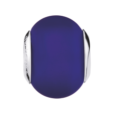 Dark Blue Matte Murano Glass Charm