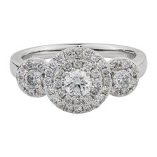 Online Exclusive - Engagement Ring with 0.95 Carat TW of Diamonds in 10kt White Gold
