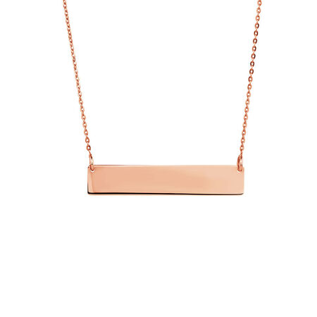 Bar Necklace in 10kt Rose Gold