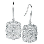 Drop Earrings with 1/10 Carat TW of Diamonds in Sterling Silver
