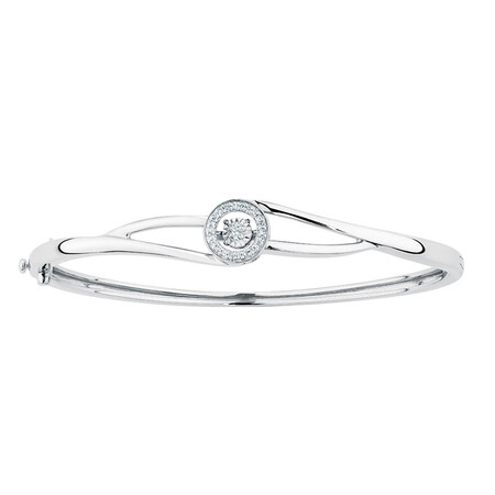 Everlight Bangle with 1/6 Carat TW of Diamonds in Sterling Silver