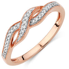 Ring with 1/10 Carat TW of Diamonds in 10kt Rose Gold