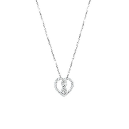 Mini Infinitas Pendant with 1/8 Carat TW of Diamonds in Sterling Silver
