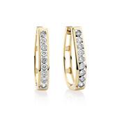 Huggie Earrings with 0.50 Karat TW of Diamonds in 10kt Yellow Gold