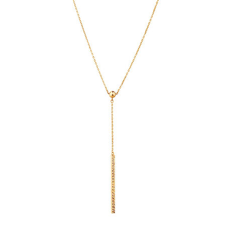 Adjustable Bar Necklace in 10kt Yellow Gold