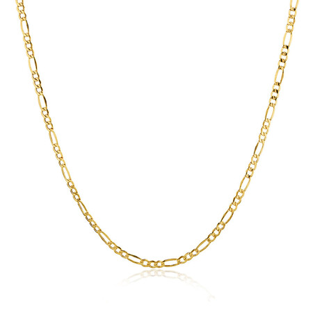"""45cm (18"""") Hollow Figaro Chain in 10kt Yellow Gold"""