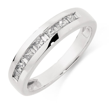 Online Exclusive - Men's Ring with 1/2 Carat TW of Diamonds in 10kt White Gold