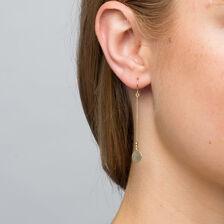 Drop Disc Earrings in 10kt Yellow Gold