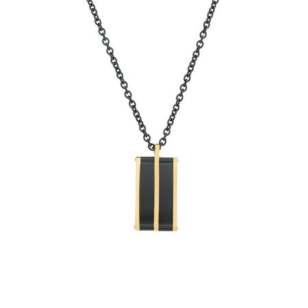 Men's Pendant in Rose and Black Tone Stainless Steel