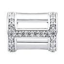 Cubic Zirconia & Sterling Silver Wild Hearts Mini Sleeve