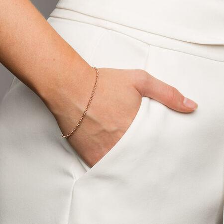 """19cm (7.5"""") Rolo Bracelet in 10kt Rose Gold"""