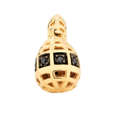 1/20 Carat TW Enhanced Black Diamond Marrakesh Drop Charm