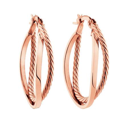Double Hoop Earrings in 10kt Rose Gold