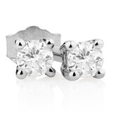 Classic Stud Earrings with 1/10 Carat TW of Diamonds in 10kt White Gold