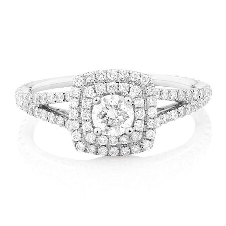 Sir Michael Hill Designer GrandArpeggio Engagement Ring with 1 Carat TW of Diamonds in 14kt White Gold