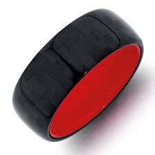Men's Ring in Tungsten Air & Carbon Fibre