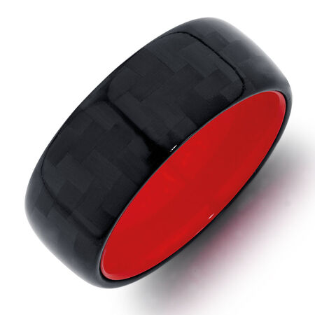 Men's Ring in Tungsten Air & Carbon Fibre