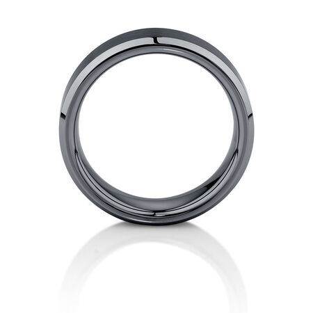 7mm Men's Ring in Gray Tungsten