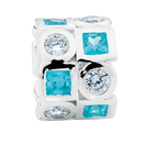 Aqua & White Cubic Zirconia & Sterling Silver Charm